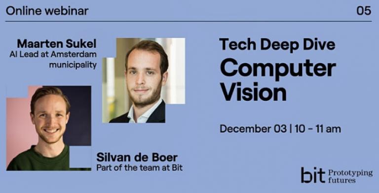 Meld je aan voor de Tech Deep Dive Computer Vision op 3 december